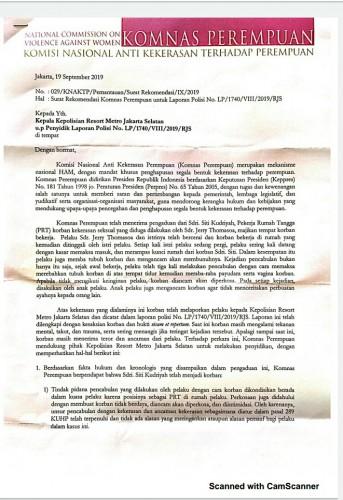 Komnas Anti Kekerasan Perempuan Rekomendasikan Menahan JT Tersangka Pencabulan