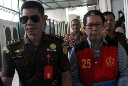 Terdakwa perusakan barang bukti kasus pengaturan skor, Joko Driyono menjalani sidang tuntutan di Pengadilan Negeri Jakarta Selatan, (Foto Istimewa)