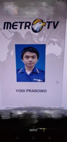 Yodi Prabowo, editor stasiun televisi Metro TV