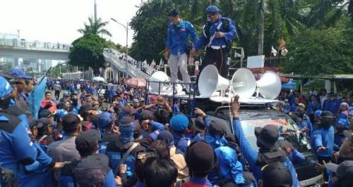 Masyrakat Anti Korupsi Kawal Kasus Korupsi Bank BTN Tiba-Tiba di Serang Saat Orasi